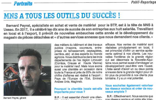 publi-reportage de Bernard Payrat