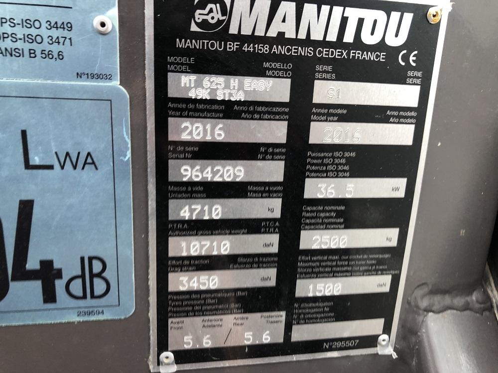 MNS MANITOU MT 625 H